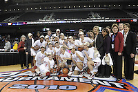 March 14, 2010.  The Stanford Cardinal after they beat the UCLA Bruins to win the 2010 Pac-10 Tournament.