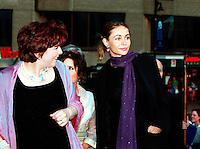 French actress Emanuelle Beart (R)  who is the President of the 25th  World Film Festival's  Jury arrive with Quebec Cultural Affairs Minister ; Diane Lemieux (L) at  the opening ceremony Festival <br />  august 23rd , 200l in Montreal, CANADA.<br /> <br /> Brought up on a farm in Provence because her father, French singer and poet Guy BÈart didn't want her to be affected by the glamour world of Paris showbusiness, Emmanuelle BÈart nevertheless got the acting urge in early adolescence. At age 15, after a couple of bit parts, she came to Montreal as an au pair to learn English. Back in France, after acting lessons and few small roles in television, she made her big-screen breakthrough in the title role of Claude Berri's Pagnol adaptation, MANON OF THE SPRING (1986). A year later she made her Hollywood debut in Tom McLoughlin's DATE WITH AN ANGEL. She has since played for some of the premier directors on both sides of the Atlantic: Rivette (LA BELLE NOISEUSE, 1991), Sautet (NELLY AND MR. ARNAUD (1995), Chabrol (L'ENFER,1994), De Palma (MISSION: IMPOSSIBLE, 1996) and Ruiz (TIME REGAINED, 1999). She stars in Catherine Corsini's REPLAY, showing at this year's Festival.<br /> <br /> <br /> <br /> <br /> Photo byMichel Karpoff<br /> Scanned, transmitted by and payable to Pierre Roussel