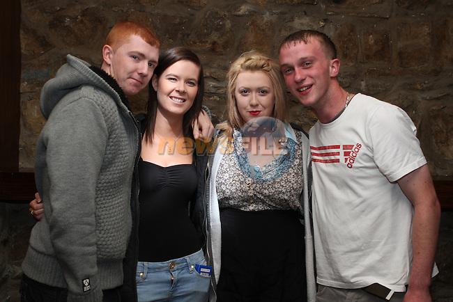 Aaron Lee, Natasha Ennis, Emma Grall and Conor Loughran at Aslan in Fusion...(Photo Jenny Matthews/www.newsfile.ie)