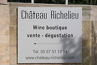Chateau Richelieu, Fronsac, Bordeaux, France