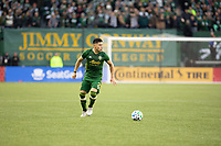 PORTLAND, OR - MARCH 01: Jorge Moreira #2 of the Portland Timbers dribbles the ball during a game between Minnesota United FC and Portland Timbers at Providence Park on March 01, 2020 in Portland, Oregon.