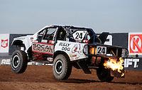 Dec. 10, 2010; Chandler, AZ, USA;  LOORRS super lite driver Kyle LeDuc during qualifying for round 15 at Firebird International Raceway. Mandatory Credit: Mark J. Rebilas-US PRESSWIRE
