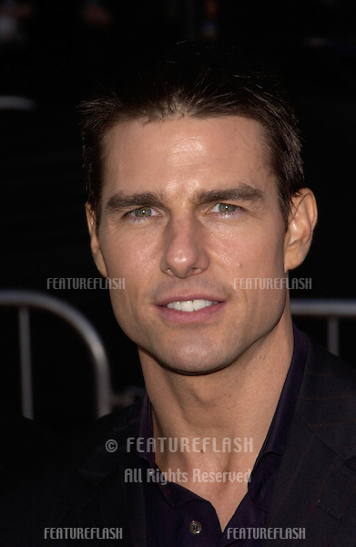 Actor TOM CRUISE at the world premiere, in Los Angeles, of his new movie Collateral..August 2, 2004