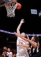 Ohio State Buckeyes center Ashley Adams (33) scores on a layup during the second half of the NCAA women's basketball game between the Ohio State Buckeyes and the Appalachian State Mountaineers at Value City Arena in Columbus, Ohio, on Friday, Dec. 20, 2013. The Buckeyes overcame a 21-18 deficit at the half to defeat the Mountaineers 52-38.  (Columbus Dispatch/Sam Greene)