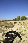 Israel, Carmel Coastal Plain, the Byzantine flour mill at Nahal Taninim Nature Reserve