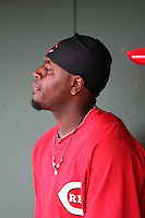 Brandon Phillips. Cincinnati Reds spring training game vs. Kansas City Royals at Goodyear Park, Goodyear, AZ - 03/07/2010.Photo by:  Bill Mitchell/Four Seam Images.