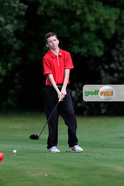 Conor Grant (The Island) on the 11th tee during the Irish Boys Under 13 Amateur Open Championship in Malahide Golf Club on Monday 11th August 2014.<br /> Picture:  Thos Caffrey / www.golffile.ie
