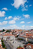 PORTUGAL, Lisbon, view of Rossio Square and Dom Pedro IV Column, View from Elevador de Santa Justa