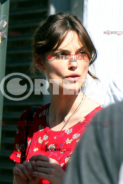 "Keira Knightley on the set of ""Can a Song Save Your Life?"" in New York City. © RW/MediaPunch Inc. July 3, 2012. /*NORTEPHOTO.COM*<br />