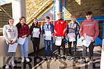 Colaiste na Sceilge students all smiles after receiving their Junior Cert results pictured here l-r; Rachel O'Grady, Davina O'Neill, Saoirse Curran, Seamus Sugrue, Eoin Murphy, Tadhg Lynch & Killian O'Sullivan.