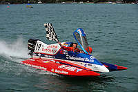 26  July, 2009, Trenton, Michigan USA.SST-120 class World Champion Jay Fox (#19).©2009 F.Peirce Williams USA.SST-120 class