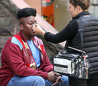 NEW YORK, NY-October 17:Tituss Burgess shooting on location for new season of NETFLIX series Unbreakable Kimmy Schmidt in New York.October 17, 2016. Credit:RW/MediaPunch