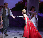 "Christy Altomare with Cody Simpson making his Broadway Debut Bows in ""Anastasia"" at the Broadhurst Theatre on November 29, 2018 in New York City."