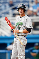 July 3, 2009:  Chase Austin of the Jamestown Jammers at bat during a game at Dwyer Stadium in Batavia, NY.  The Jammers are the NY-Penn League Short-Season Class-A affiliate of the Florida Marlins.  Photo by:  Mike Janes/Four Seam Images