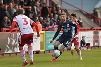 Jay O'Shea of Bury during Stevenage vs Bury, Sky Bet EFL League 2 Football at the Lamex Stadium on 9th March 2019