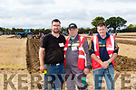 Watch the judge<br /> ---------------------<br /> L-R Colm Dineen from Causeway discusses the plan with judges Dave Mulcahy&amp;Derek O'Driscoll in the 3 furrow junior class at the ploughing championships in Tullamore last Tuesday.