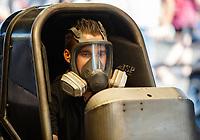 Jun 11, 2017; Englishtown , NJ, USA; NHRA funny car driver Jonnie Lindberg during the Summernationals at Old Bridge Township Raceway Park. Mandatory Credit: Mark J. Rebilas-USA TODAY Sports