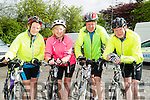 l-r  Mary Feeley, Bridget O'Connor, Gerard O'Connor and James Feeley at the  St Kieran's GAA cycle from the Castleisland Desmonds Pitch on Sunday