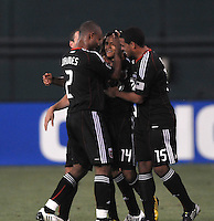 DC United midfielder Andy Najar (14) celebrates his team mates his score in the 107th minute of the game.   DC United defeated Real Salt Lake 2-1 to advance to the round of 16 of the  U.S. Open Cup at RFK Stadium, Wednesday  June 2  2010.