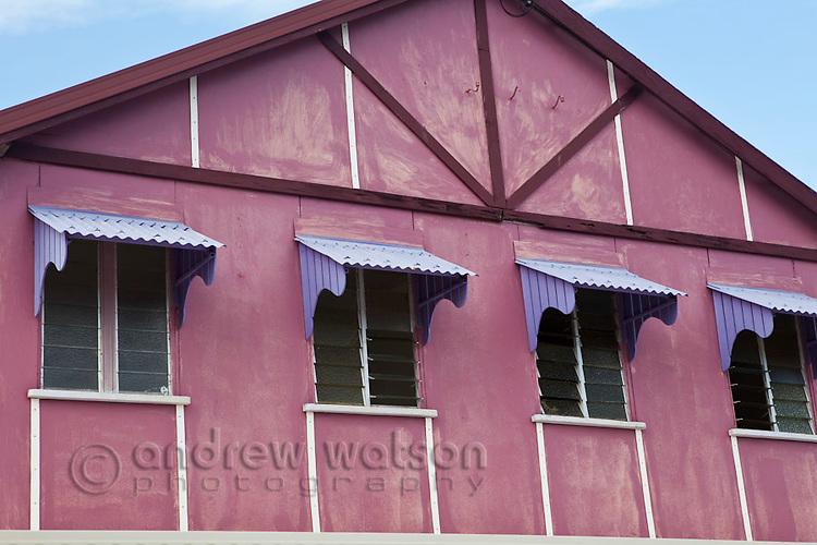 Colourful architecture on Douglas Street.  Thursday Island, Torres Strait Islands, Queensland, Australia