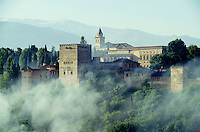 The Alhambra seen from Albaicin hill.