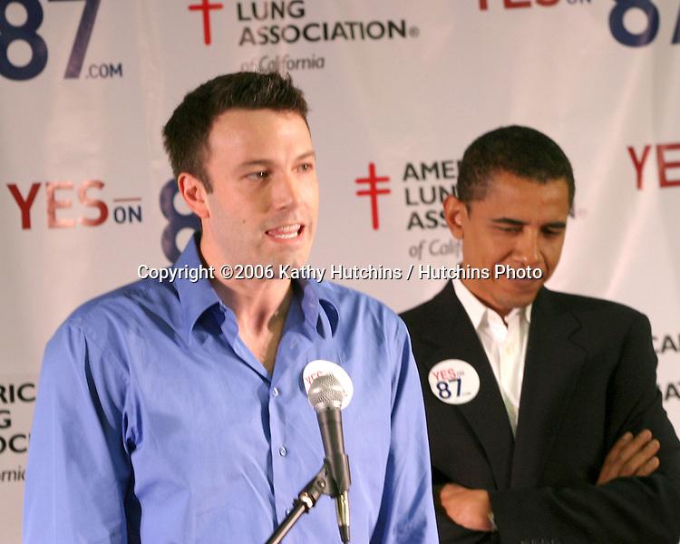 Ben Affleck.Press Conference Supporting California Proposition 87.USC Student Activities Center.Los Angeles, CA.September 9, 2006.©2006 Kathy Hutchins / Hutchins Photo....                 Ben Affleck and. Barack Obama, US Senator from illinois.Press Conference Supporting California Proposition 87.USC Student Activities Center.Los Angeles, CA.September 9, 2006.©2006 Kathy Hutchins / Hutchins Photo....                 Ben Affleck and. Barack Obama, US Senator from illinois.Press Conference Supporting California Proposition 87.USC Student Activities Center.Los Angeles, CA.October 27, 2006.©2006 Kathy Hutchins / Hutchins Photo....