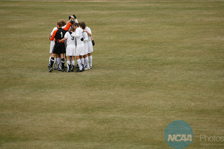 06 DEC 2008:  Messiah College takes on Stevens Institute of Technology during the Division III Men's Soccer Championship held at Macpherson Stadium at Bryan Park in Greensboro, NC.  Jamie Schwaberow/NCAA Photos