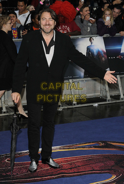 Jonathan Ross<br /> 'Man Of Steel' UK film premiere, Empire cinema, Leicester Square, London, England.<br /> 12th June 2013<br /> full length black suit umbrella   <br /> CAP/CAN<br /> &copy;Can Nguyen/Capital Pictures