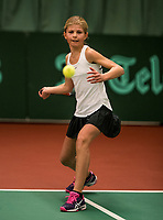 Netherlands, The Hague,  March 10, 2017, Tennis,  National Indoor Junior Championships, NOJK, 12-16 years, Nina Kwakman (NED)<br /> Photo: Tennisimages/Henk Koster