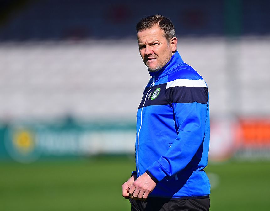 Forest Green Rovers manager Mark Cooper <br /> <br /> Photographer Andrew Vaughan/CameraSport<br /> <br /> Vanarama National League - Lincoln City v Forest Green Rovers - Saturday 25th March 2017 - Sincil Bank - Lincoln<br /> <br /> World Copyright &copy; 2017 CameraSport. All rights reserved. 43 Linden Ave. Countesthorpe. Leicester. England. LE8 5PG - Tel: +44 (0) 116 277 4147 - admin@camerasport.com - www.camerasport.com