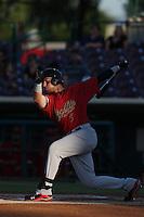 Brandon Drury #3 of the Visalia Rawhide bats against the Inland Empire 66ers at San Manuel Stadium on June 12, 2014 in San Bernardino, California. Inland Empire defeated Visalia, 4-2. (Larry Goren/Four Seam Images)