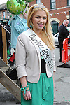 Dunleer Rose Sarah McCarville pictured at the Dunleer St. Patrick's day parade. Photo: Colin Bell/pressphotos.ie
