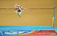 ISTAMBUL, TURQUIA, 09 DE MARCO 2012 - MUNDIAL DE ATLETISMO INDOOR - <br /> Esthera Petre atleta da Romenia compete durante a classificacao para mulheres no salto em altura no Mundial de Atlestismo Indoor na Arena Atakoy em Istambul na Turquia, nesta sexta-feira, 09 marco. (FOTO: Ma Yan / BRAZIL PHOTO PRESS).
