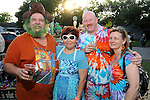 From left: Dennis Dillow, Robin Sims, Randy Blair and Wanda Blair at the 2010 Art Car Ball at the Orange Show Monument & Warehouse Thursday May 06,2010.  (Dave Rossman Photo