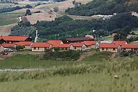 Bonefro: una veduta del villaggio di casette provvisorie che ospitano ancora una trentina di nuclei familiari da dopo il sisma del 2002