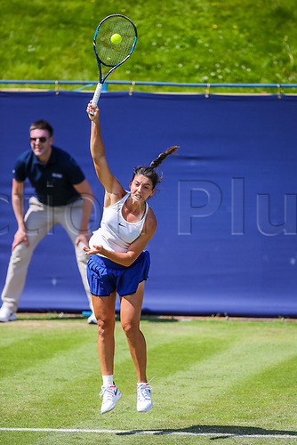 June 18th 2017, Edgbaston Priory Club; Tennis Tournament; Aegon Classic Birmingham; Sunday Qualifiers; Ipek Soylu serving against Miyu Kato
