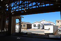 Phoenix, Arizona. November 17, 2012 - Experts on economy believe that one more reason for the rebound in new housing building is that the numbers of foreclosed and previously-owned homes have been falling. These homes usually represent a competition to newly built homes. The U.S. housing market begins to strengthen as the Department of Commerce reports an increase of 15% in September in comparison to August to an adjusted annual rate of 872,000 units. From last year's numbers, new construction is up 34.8%. Photo by Eduardo Barraza © 2012