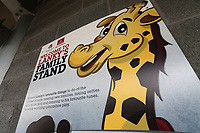 Lanky's Family Stand signage ahead of Lancashire CCC vs Essex CCC, Specsavers County Championship Division 1 Cricket at Emirates Old Trafford on 10th June 2018
