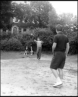 BNPS.co.uk (01202 558833)<br /> Pic: Bonhams/BNPS<br /> <br /> Touch football became part of every family outing with the Kennedys.<br /> <br /> Fascinating photographs of the Kennedys during their first year of marriage have emerged for auction.<br /> <br /> The intimate snaps of the future US president and his wife Jackie were taken by renowned photographer Orlando Suero who spent five days with the couple at their Georgetown home in May 1954.<br /> <br /> At the time, Kennedy was a young senator from Massachusetts establishing himself as one to watch on the US political scene.<br /> <br /> The collection's owner, Max Lowenherz, donated the bulk of the photographs and negatives to the Peabody Institute of Johns Hopkins University in Maryland, USA.<br /> <br /> He has now decided to put 31 of them up for auction and they are tipped to sell for &pound;4,900 ($6,000).