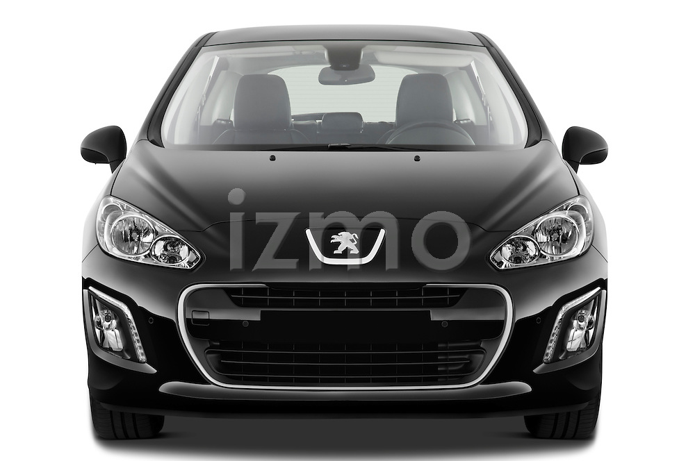 Straight front view of a 2011 Peugeot 308 5 Door Hatchback