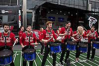 26.10.2014.  London, England.  NFL International Series. Atlanta Falcons versus Detroit Lions. Falcons drum band outside Wembley Stadium.