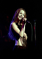 July 7 1993- File Photo<br /> - Vanessa Paradis in concert at Theatre st-Denis in Montreal.<br /> photo (c)  Images Distribution