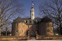 AJ3335, Williamsburg, Colonial Williamsburg Historic Area, Virginia, The Capitol in Colonial Williamsburg in the state of Virginia.
