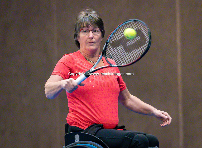 Alphen aan den Rijn, Netherlands, December 13, 2018, Tennispark Nieuwe Sloot, Ned. Loterij NK Tennis, Wheelchair, Marlise Peters (NED)<br /> Photo: Tennisimages/Henk Koster