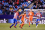 Atletico de Madrid's Koke Resurrección and SD Eibar's Francisco Manuel Rico during Copa del Rey match between Atletico de Madrid and SD Eibar at Vicente Calderon Stadium in Madrid, Spain. January 19, 2017. (ALTERPHOTOS/BorjaB.Hojas)