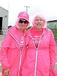 Dairina McKeown and Deirdre Walsh who took part in the pink strollers annual walk on Clogherhead beach. Photo:Colin Bell/pressphotos.ie
