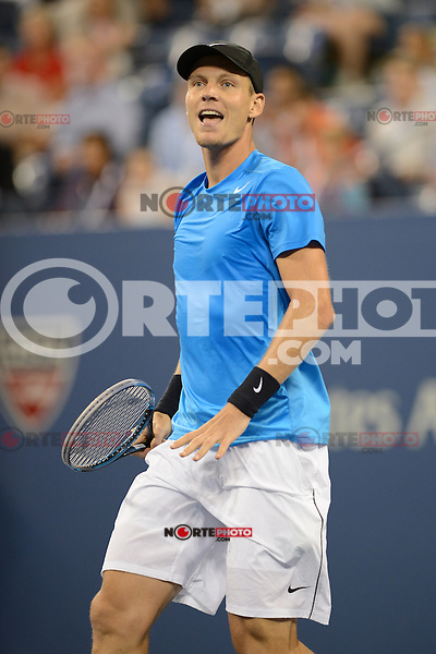 FLUSHING NY- SEPTEMBER 5: Tomas Berdych upset Roger Federer in four sets on Armstrong stadium at the USTA Billie Jean King National Tennis Center on September 5, 2012 in in Flushing Queens. Credit: mpi04/MediaPunch Inc. ***NO NY NEWSPAPERS*** /NortePhoto.com<br /> <br /> **CREDITO*OBLIGATORIO** *No*Venta*A*Terceros*<br /> *No*Sale*So*third* ***No*Se*Permite*Hacer...<br /> more »
