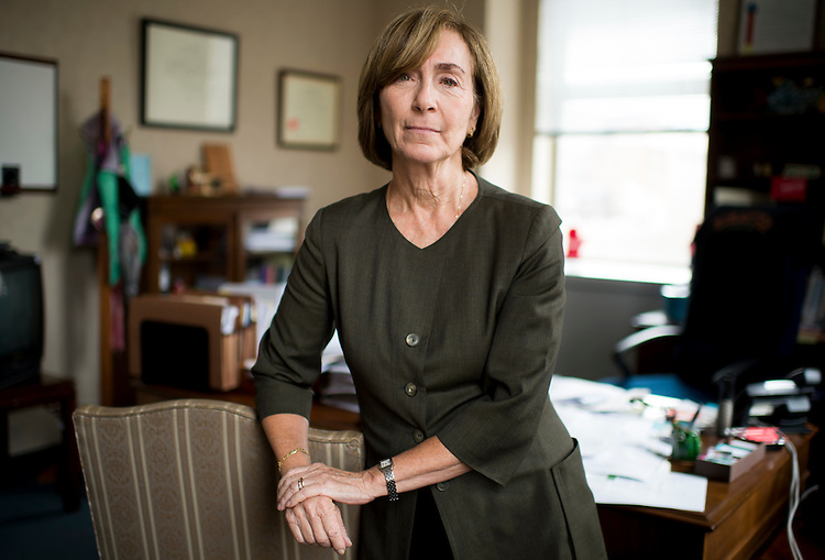UNITED STATES - JULY 17: Ann Ravel, Chair of the Federal Election Commission, poses in her office at the FEC in Washington on Friday, July 17, 2015. (Photo By Bill Clark/CQ Roll Call)