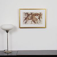 "Gauguin: ""Two Marquesans"", Digital Print, Image Dims. 9.75"" x 16"", Framed Dims. 15.5"" x 21.75"""