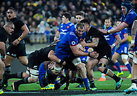 France's Yoann Maestri in action during the Steinlager Series international rugby match between the New Zealand All Blacks and France at Westpac Stadium in Wellington, New Zealand on Saturday, 16 June 2018. Photo: Dave Lintott / lintottphoto.co.nz